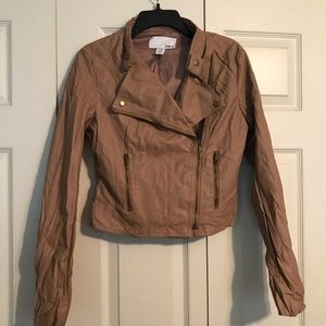 BAR III Women's Size Medium Tan Jacket Quilted